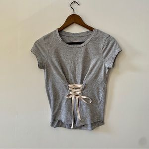 Victoria's Secret Gray Ballet Top